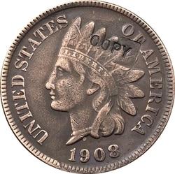 1908 копия монеты в индийском стиле