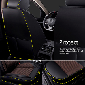 Image 5 - SEAMETAL רכב מושב מכסה אוניברסלי פשתן כיסוי עור מושב מכסה מגן מותג יוקרה עיצוב עם קדמי מושב משענת כרית