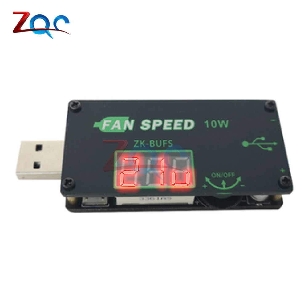DC <font><b>5V</b></font> 10W <font><b>USB</b></font> <font><b>Fan</b></font> Cooling Governor Speed <font><b>Controller</b></font> Regulator <font><b>Fan</b></font> Speed Switch Module LED Dimming Module 4.0V-12V to 1.0V-24.0V image