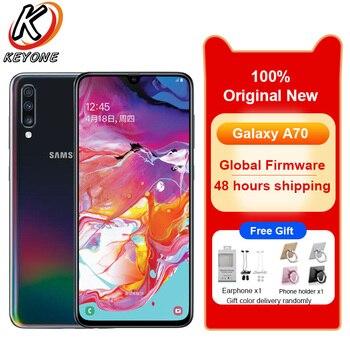 Перейти на Алиэкспресс и купить Сотовый телефон Samsung Galaxy A70 A7050, 6,7-дюймовый экран 20:9 Water Drop, 8 ГБ ОЗУ 128 ГБ ПЗУ, Snapdragon 675 восемь ядер, мобильный телефон с NFC