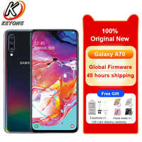 "New Samsung Galaxy A70 A7050 Mobile Phone 6.7"" 8GB RAM 128GB ROM Snapdragon 675 Octa Core 20:9 Water Drop Screen NFC CellPhone"