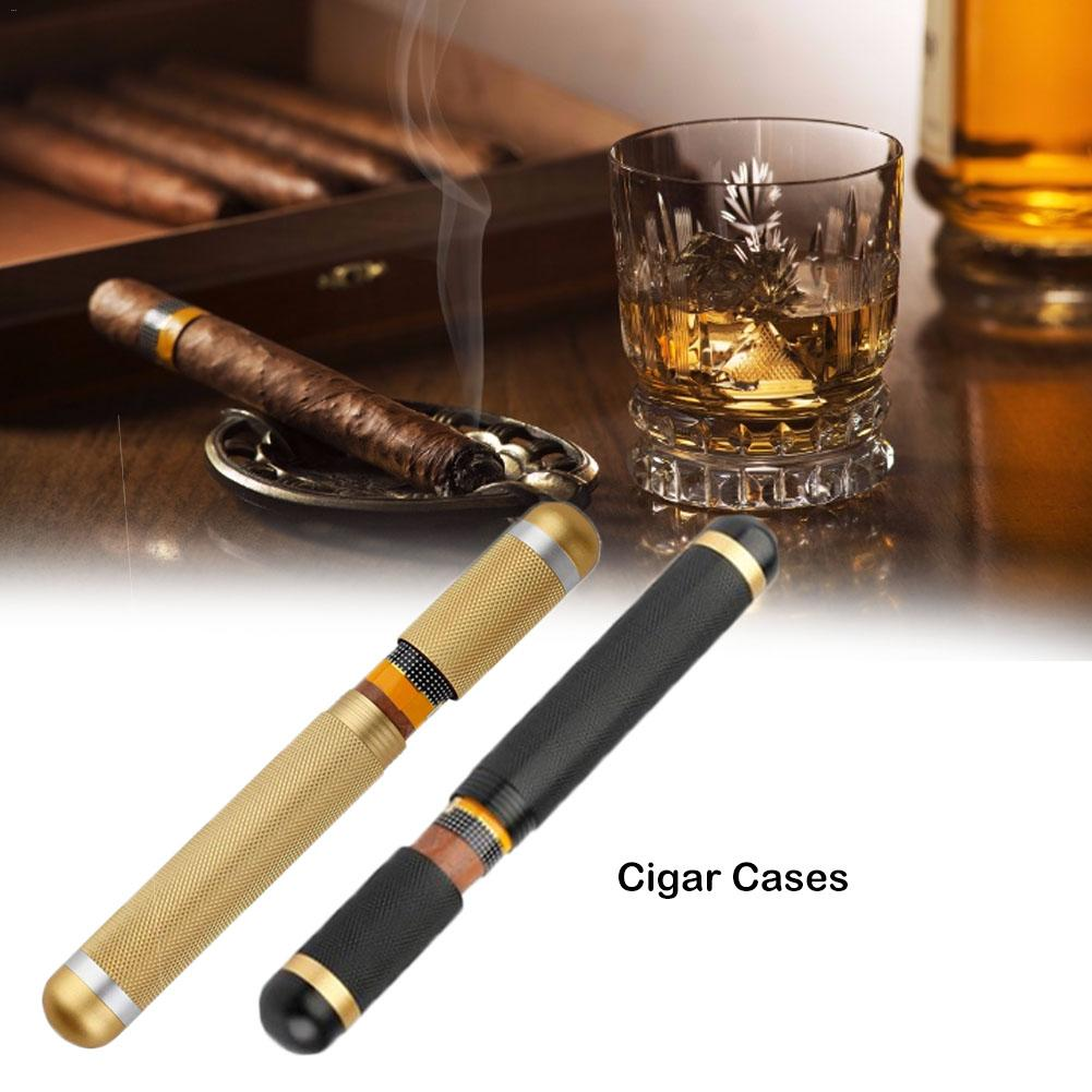 Travel Cigars Box Cigarettes Case Mini Humidor Moisture Storage Tube Single Cigar Tube Smoking Set Accessories 2 Mm Inner Diame