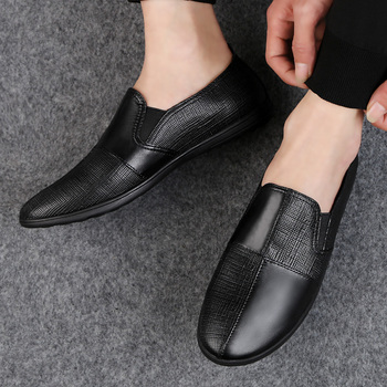 Genuine Leather Casual Loafers Men Fashion Men Shoes Casual Moccasins Fires Male Driving Shoes Leisure Flats Male Loafers HC-623 фото