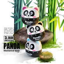 Lovely Panda Timer Cartoon 60 Minutes Countdown Alarm Timer  Cooking Dial Timers Counter Reminder Kitchen Accessories