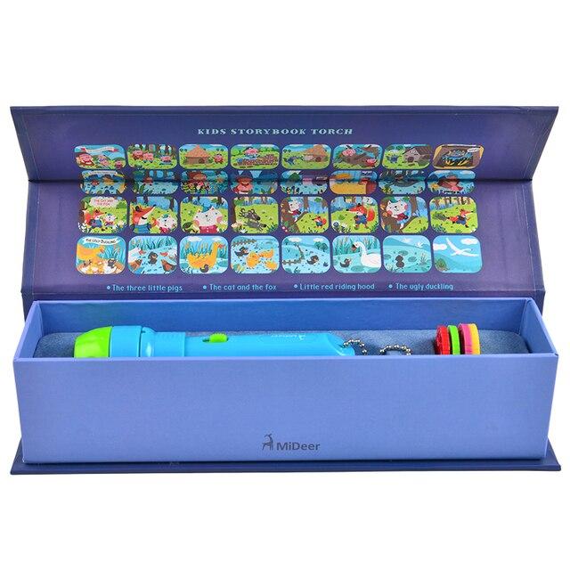 MiDeer Mini Projector Torch Educational Light up Toys Children Kids Sleeping Stories Starlight Sleeper Luminous Toys