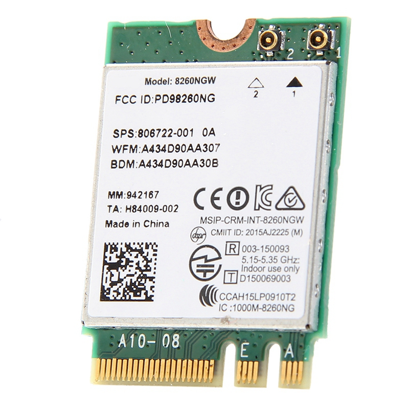 Wlan-Card 8260 Dual-Band Wifi 802.11ac Bluetooth Intel Wi-Fi Windows-7 Wireless-Ac New