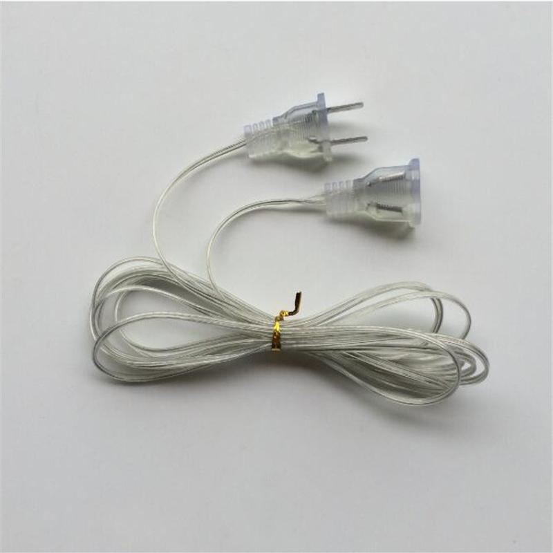 para led, plugue eu, luz, interruptor, fio transparente