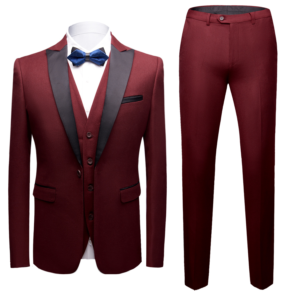 3 Piece Slim Fit Men's Wedding Tuxedos for Formal Occasions