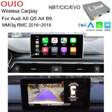 Sem fio Bluetooth carplay Android Carlief interface Para Audi A4 A5 Q5 B9 MMI3g RMC 2016 2017 2018 2019 2020 Traseiro adaptador de câmera(China)