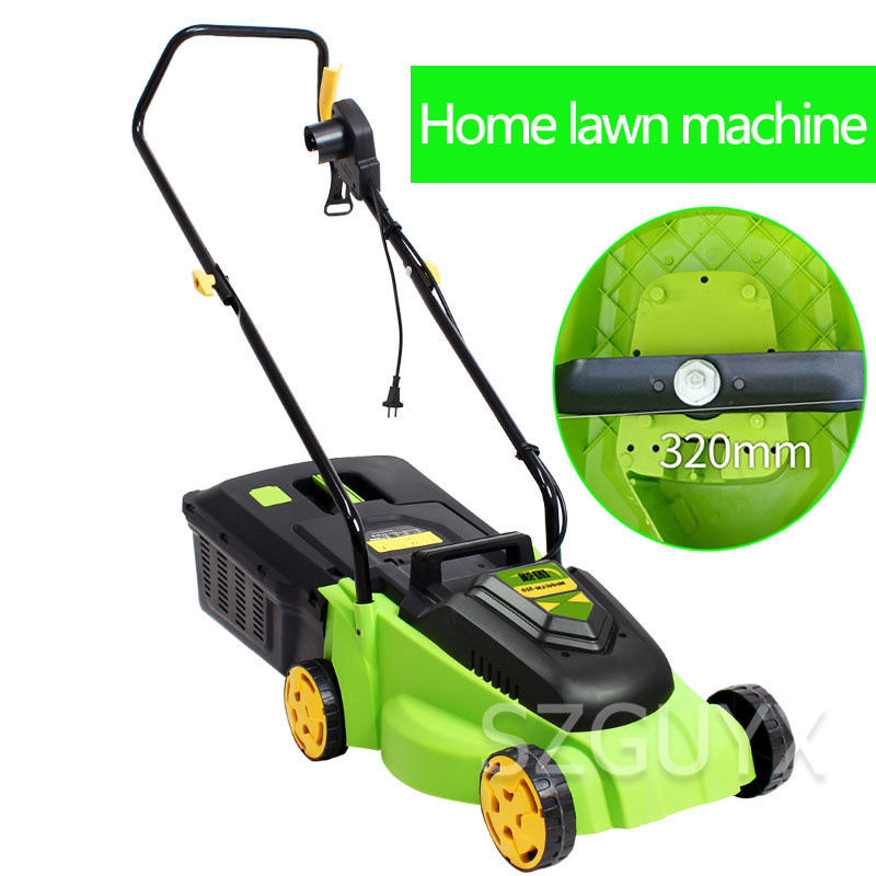220V/1600W High-power commercial electric lawn mower lawn machine Small lawn mower Multi-function hand-push weeder