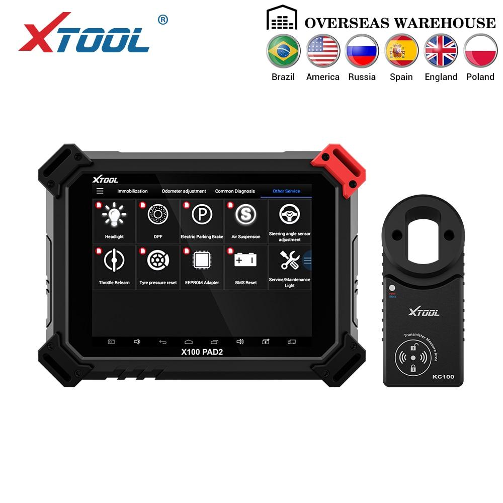 X100 PAD2 Pro Professionale OBD2 Auto Strumento di Diagnostica con il programmatore chiave Per Il VW 4th 5th Immobilizer e regolazione del Contachilometri