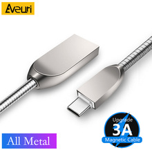 3A Luxury Metal Cable Fast Charging Type-C Micro USB Data Charger Cable