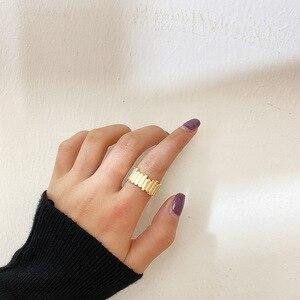 2020 новое кольцо неправильный круг латунные золотые кольца блестящее простое геометрическое кольцо для женщин французское минималистичное...