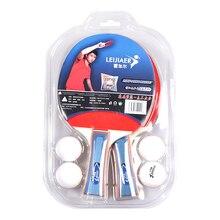 2 игрока набор 2 настольный теннис летучие мыши ракетка для пинг-понга с 4 мячиками для пинг-понга для школы Домашний Настольный теннис ракетка для Пинг-Понга Летучая Мышь