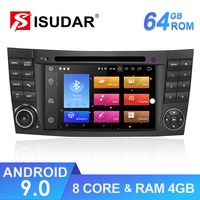 Isudar Auto Multimedia Player 2 Din Android 9 For Mercedes/Benz/E Class/W211/CL 8 Core 4GB RAM Car GPS DVD Radio USB DVR FM DSP