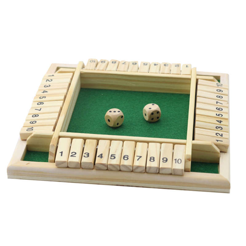 4 Players Digital Puzzle Board Game Shut The Box Game Set Number Drinking Games For Friends/Family