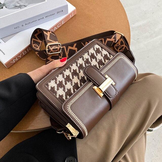 Hot Unique Bag Design Retro Woollen Elegant Shoulder and Crossbody Bag
