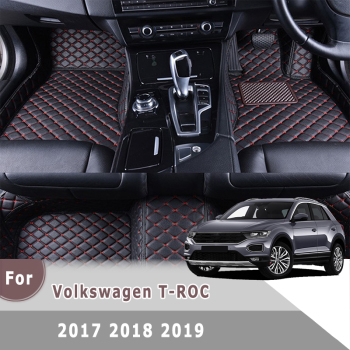 Right Hand Drive Car Floor Mats For T-ROC 2017 2018 2019 Custom Carpets Accessories Leather Rugs For Volkswagen Vw TROC