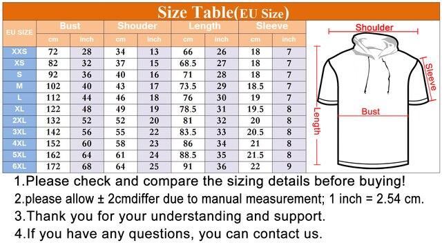 Ifpd eu/us Размер Летняя мужская футболка с капюшоном крутым