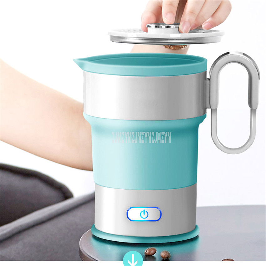 Electric Kettle Mini Folding Portable Travel 0.6L Kettle Silicone Water Boiler