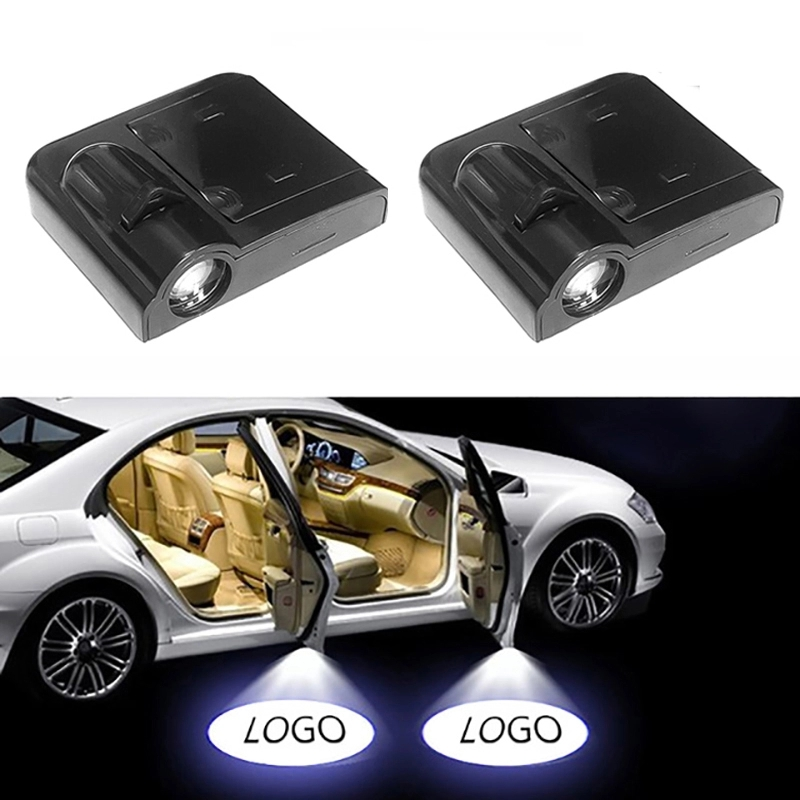 1Piece Wireless <font><b>Led</b></font> Car Door Welcome Laser Projector <font><b>Logo</b></font> Ghost Shadow Light for <font><b>Renault</b></font> Lexus Ford BMW Toyota Hyundai Kia Audi image