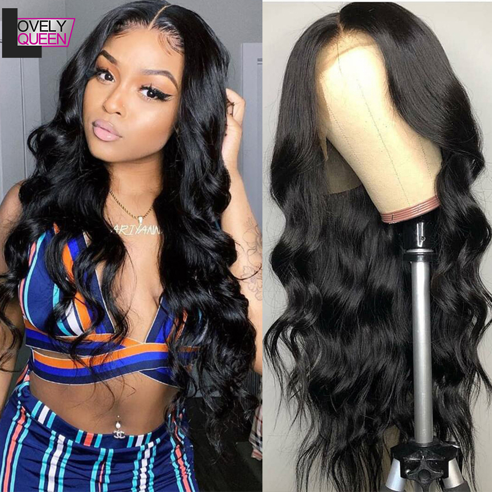 13x4 Lace Frontal Wig Peruvian Body Wave Wig Remy Human Hair Wigs 150 Density Pre-Plucked Lace Front Wig For Black Women