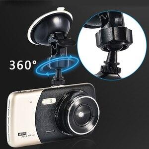 Image 3 - 1080p fhd carro dvr lcd traço cam vídeo retrovisor f2.0 câmera dupla wdr ciclo gravação estrela visão noturna g sensor dashcam buck linha