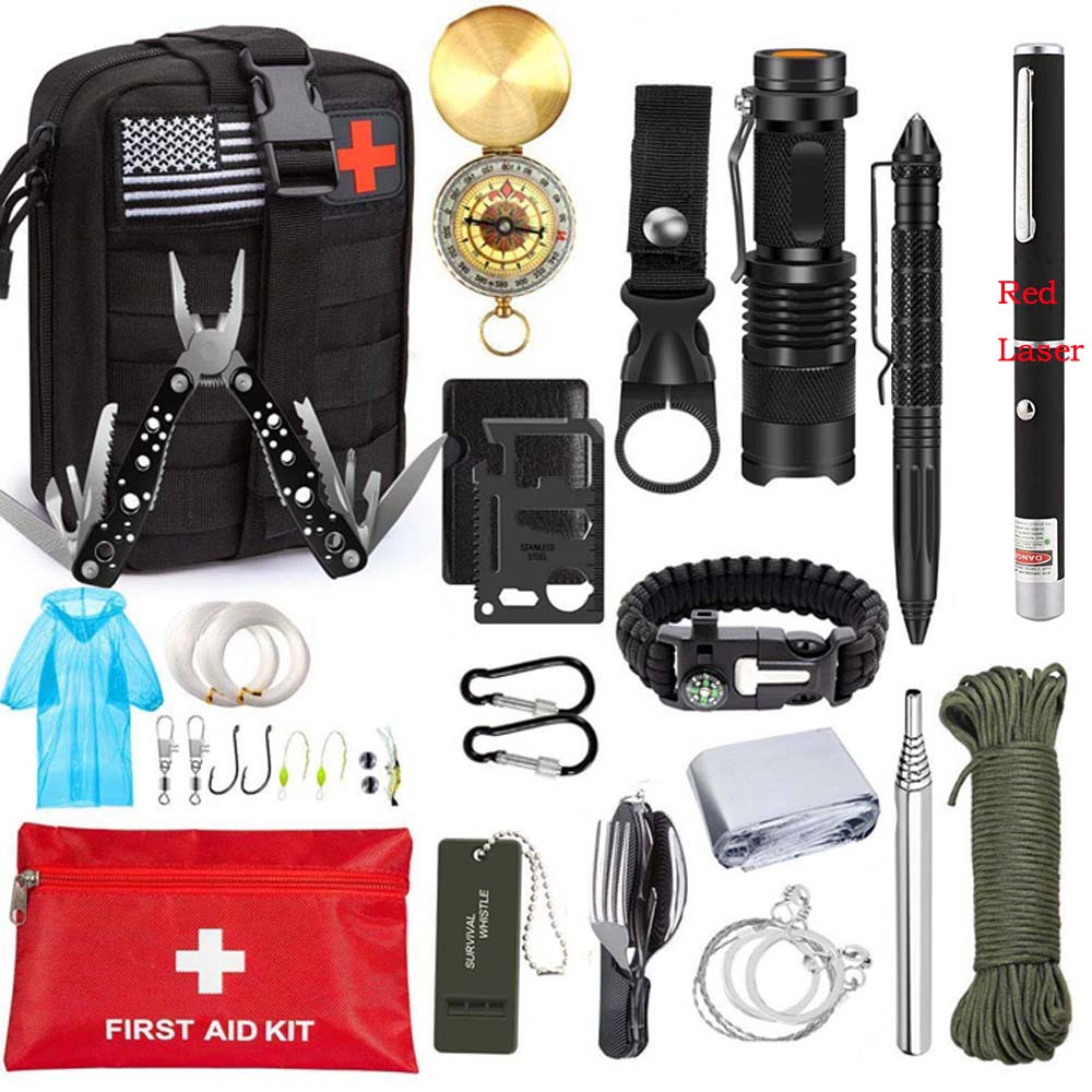 camping first aid Survival Kit military tactical equipmen Kit SOS EDC Emergency Survival Gear Tool
