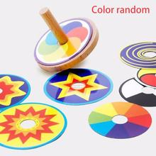 1pcs Wooden Nostalgic Children Hand Spinner Fingertips Rotating Decompression Toys Portable Decompression Tool Finger Toy(China)