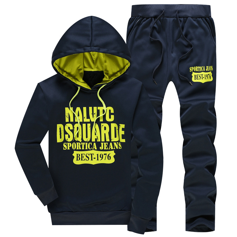 Leisure Sports Suit Male Autumn Sportswear Suit Male College Students Long Sleeve Sports Pack Male Suit Sweater