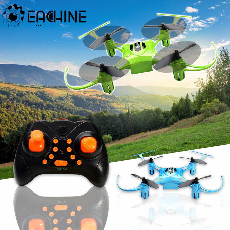 Eachine H8S 3D Mini Inverted Flight 2.4G 4CH 6A xis One Key Return Blue/Green Mode 2 RC Drone Quadcopter RTF Biue Green