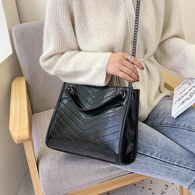 Large Shoulder Bag Women Travel Bags Leather Pu Quailty Bag Female Luxury Handbags Casual Tote Fashion Single Zipper Versatile