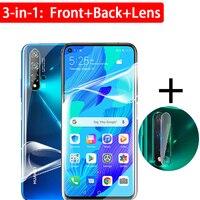 Nova5t-protector de lente de cámara con película de hidrogel, 3 en 1, para Huawei Nova 5 T 5 T Nova5 t 6 7 SE 7i 7se
