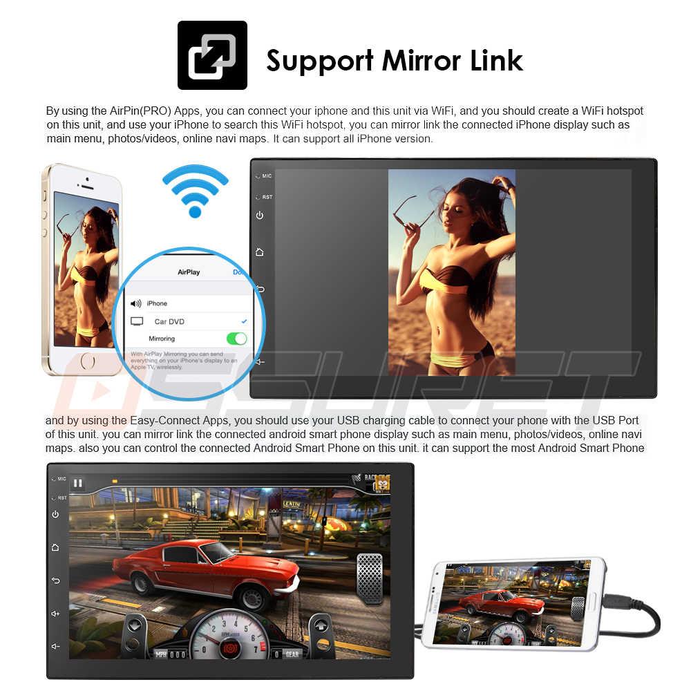 """7 """"2din カーラジオモニターデジタルタッチスクリーンアンドロイド 9.0 マルチメディアプレーヤーミラー Autoradio サポートリアカメラ obd2 dvbt dab +"""