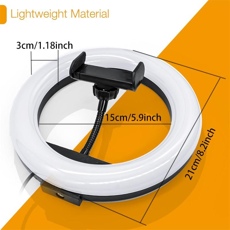 LED-Video-Ringlicht mit 51-Zoll-Stativständer Telefonhalter - Kamera und Foto - Foto 4