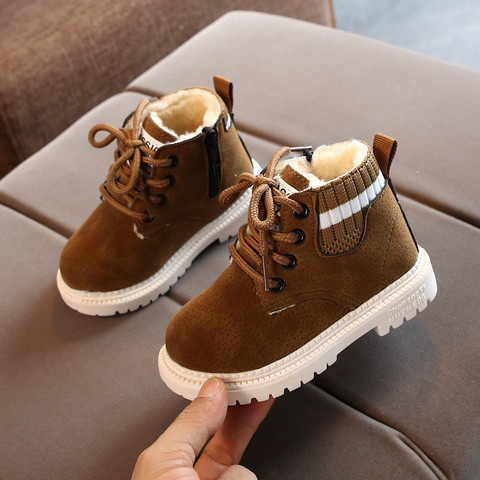 New kids boots snow boot Toddler Infant Kids Baby Girls Boys Warm Boots Lace Up Shoes Short Ankle Booties girls boots #guahao Karachi