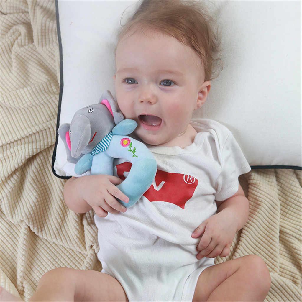 ベビー幼児動物ハンドベルソフト釣鐘おもちゃガラガラベッドプレイ知育玩具ソフト快適ベビーおもちゃ 0 -12 ヶ月