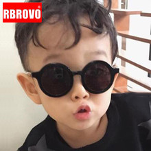 RBROVO Classic Round Sunglasses Children Vintage Candy Color