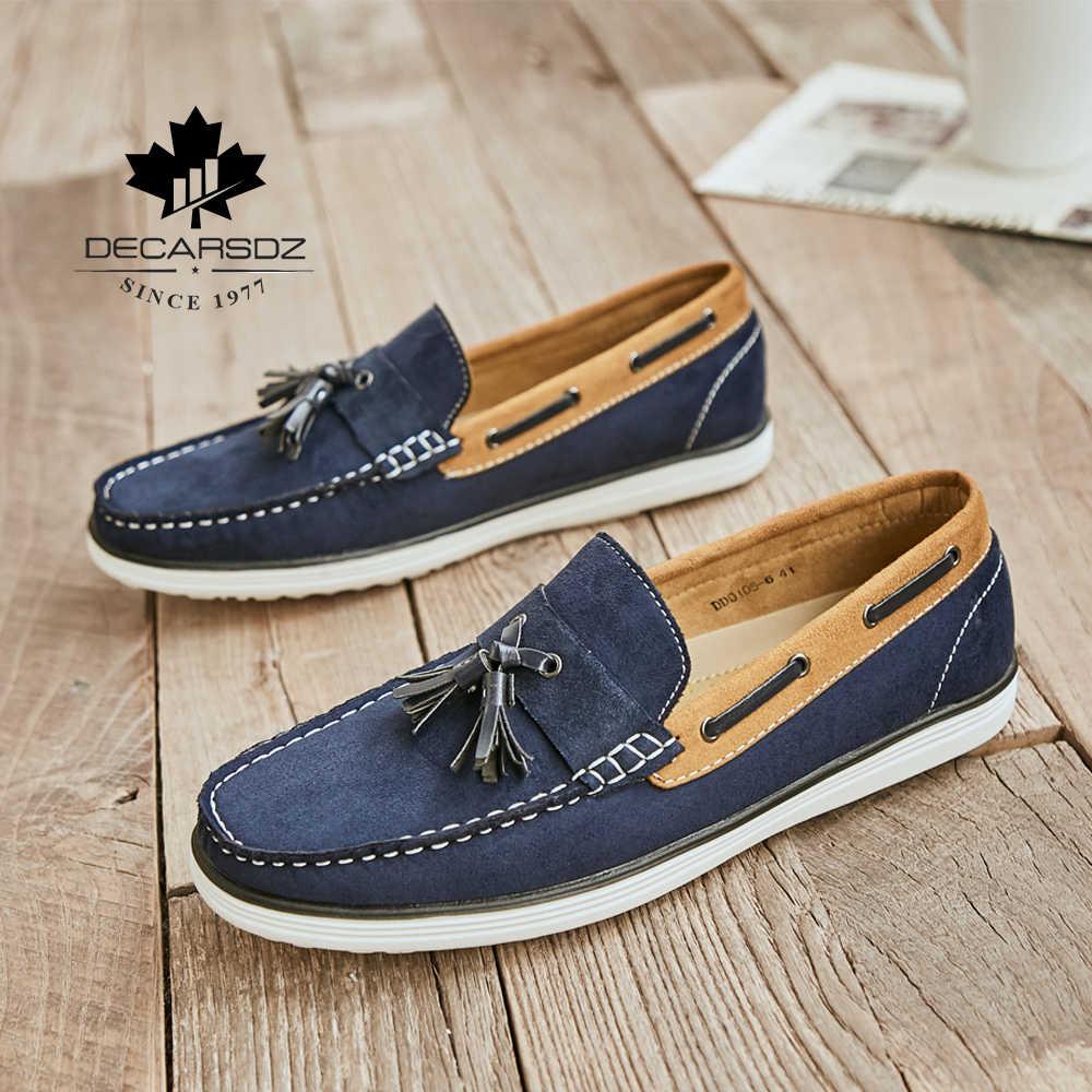 Erkek mokasen ayakkabıları ayakkabı 2020 yeni erkekler rahat ayakkabılar erkekler moda mokasen tekne ayakkabı erkek marka rahat Slip-On eğlence erkek ayakkabısı