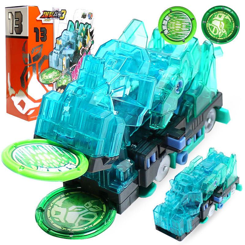 2019 Burst Speed Screechers Wild Deformation Car Action Figures Multiple Chip Capture Wafer 360 Flip Transformation Cars Toys