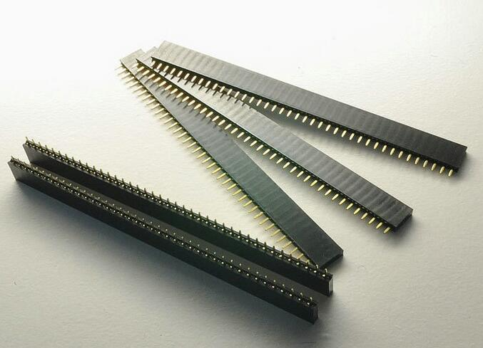 5PCS 1*40 Pin FeMale Pin Header Strip 2x40 2*20 1*50PIN 2.54mm 1.27mm 2.0mm double row Round right angle image