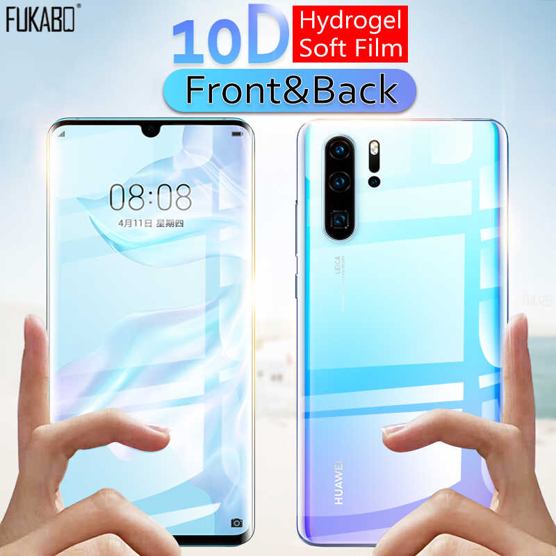 10D Front & Back Hydrogel Film For Huawei P30 Pro P20 Lite P Smart 2019 Protector For Mate 20 10 Lite Honor 10 20 Pro Not Glass
