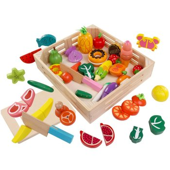 Wooden Magnetic Cut Fruit Toys Children Play House Simulation Vegetables Cut To See Boys And Girls Cut free shipping magnetic simulation fruit well send to receive bag house wooden toys