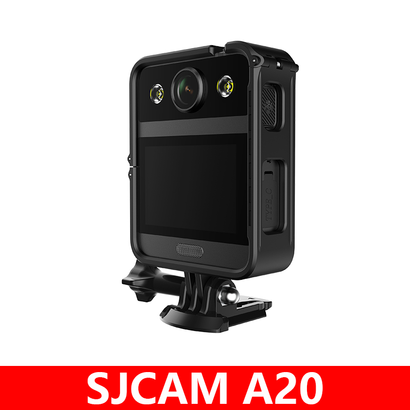 "Original SJCAM A20 Body Camera 2.33"" Front Touch Screen 166° Wide Angle 2650mAh Battery 10M LED Lamp Law Enforcement Recorder