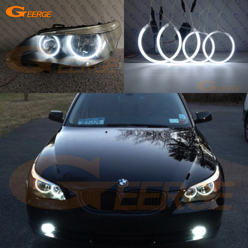 For BMW E60 E61 520i 525i 530i 540i 545i 550i M5 Pre LCI 2003-2007 Excellent Ultra Bright CCFL Angel Eyes DRL Halo Rings