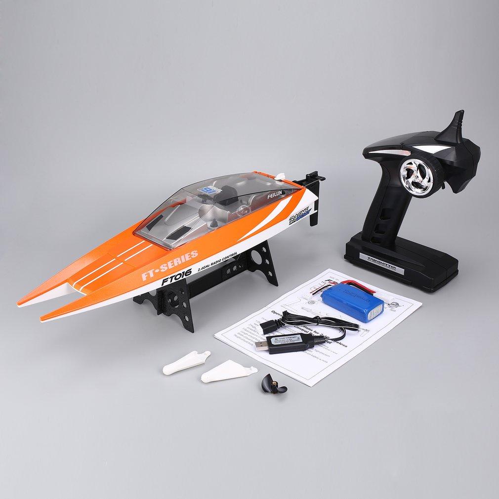 Feilun FT016 RC סירת 30 km/h במהירות גבוהה מירוץ סירת התהפך מים קירור סירת מרוץ חשמלי צעצוע Xams מתנה עבור ילד