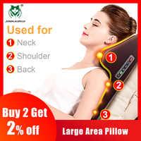 Masajeador Cervical de amasamiento multifuncional cuello hombro cintura cuerpo completo coche hogar Duel-uso regalo gran masajeador almohada