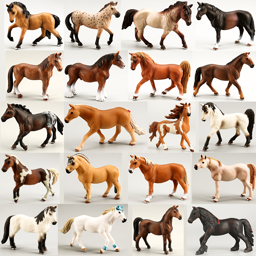Plastic Horses Party Favors Assorted Colors Horse Figurines Simulation Horse Animal Model Figurine PVC Toy Best Gift For Boys