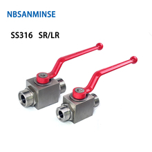 NBSANMINSE High Pressure Hydraulic Ball Valve Stainless Steel SS316 SR LR Thread  Industrial Engineering Anticorrosion Valve цена