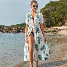 Robe de Plage longue, Kaftan, chemise, Cover-up, Bikini, paréo, tunique, vêtements de Plage, nouvelle collection